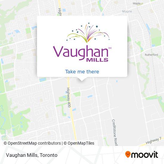 Vaughan Mills Mall map