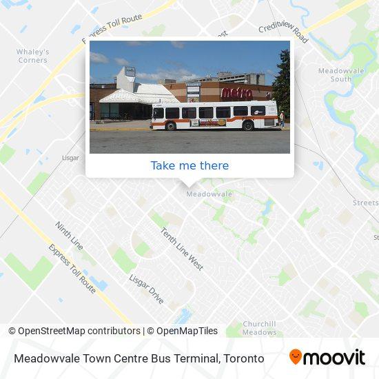 Meadowvale Town Centre Bus Terminal map
