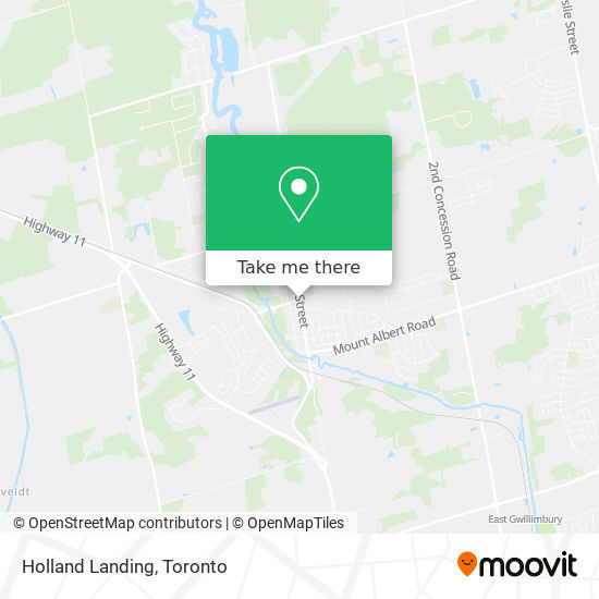 Holland Landing mapa