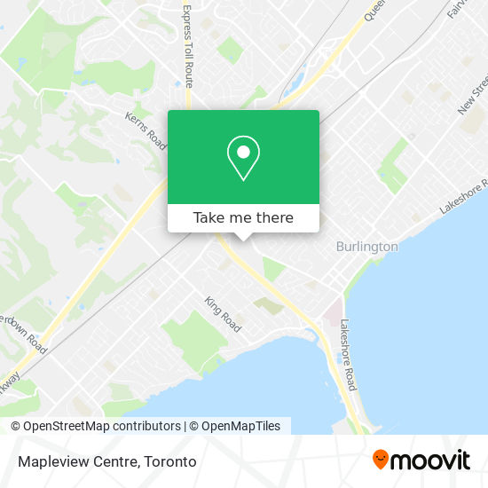 Mapleview Mall map