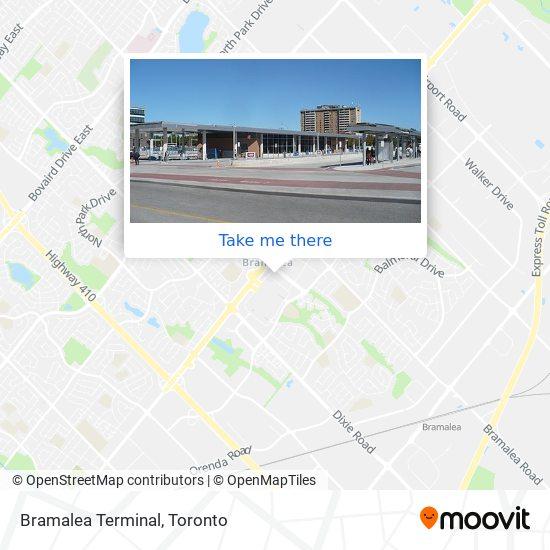 Mapa Bramalea City Centre Bus Terminal