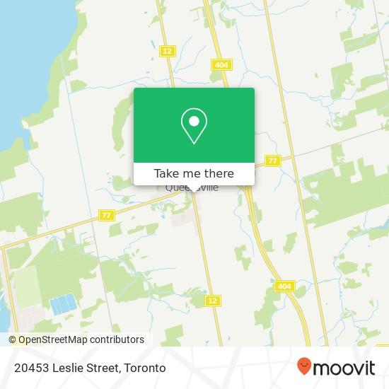 20453 Leslie Street mapa