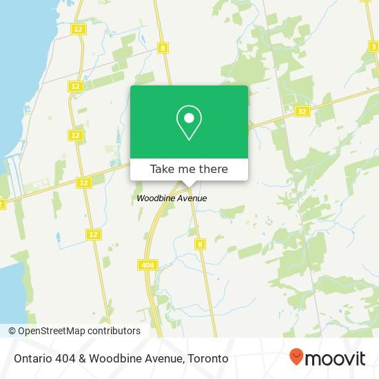 Ontario 404 & Woodbine Avenue plan