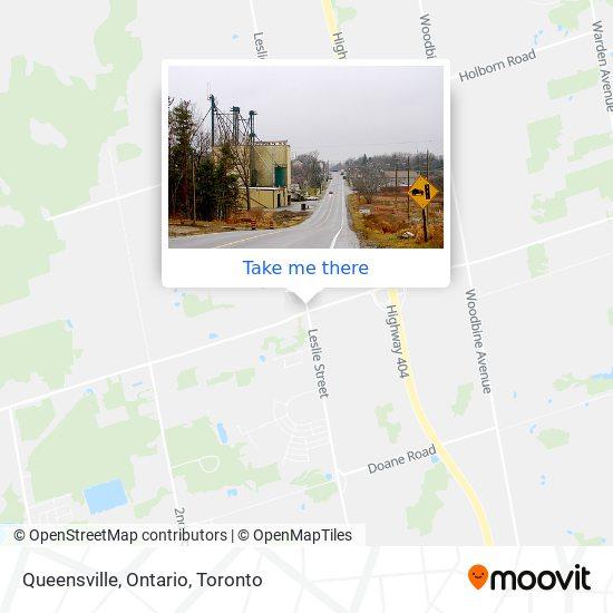 Queensville, Ontario mapa