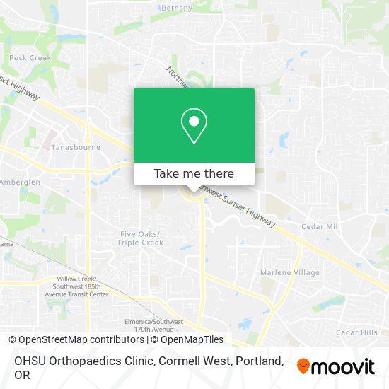 OHSU Orthopaedics Clinic, Corrnell West mapa