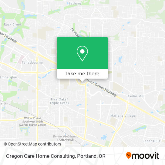 Oregon Care Home Consulting mapa