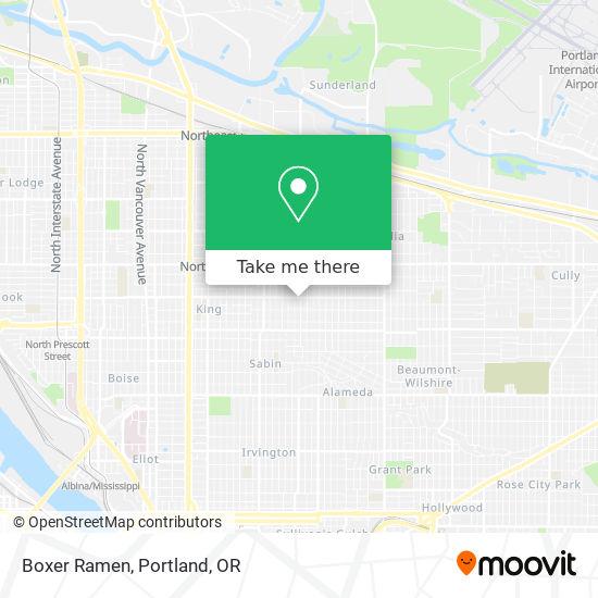 Mapa de Boxer Ramen