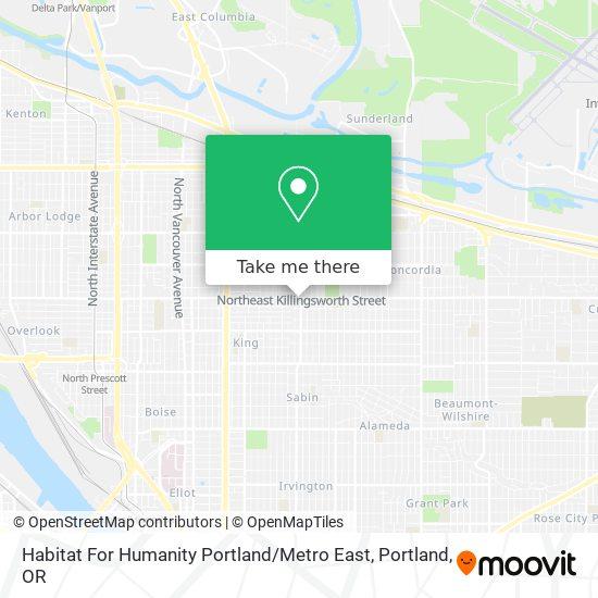 Mapa de Habitat For Humanity Portland / Metro East