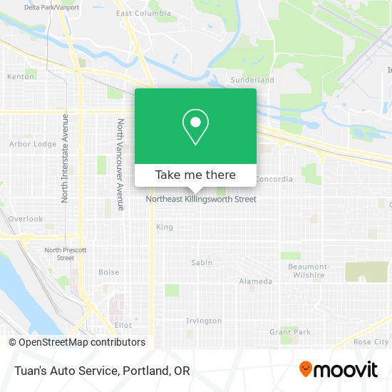 Mapa de Tuan's Auto Service