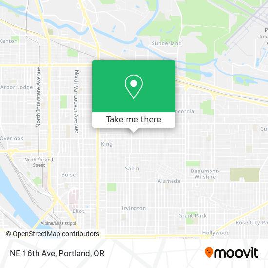 Mapa de NE 16th Ave