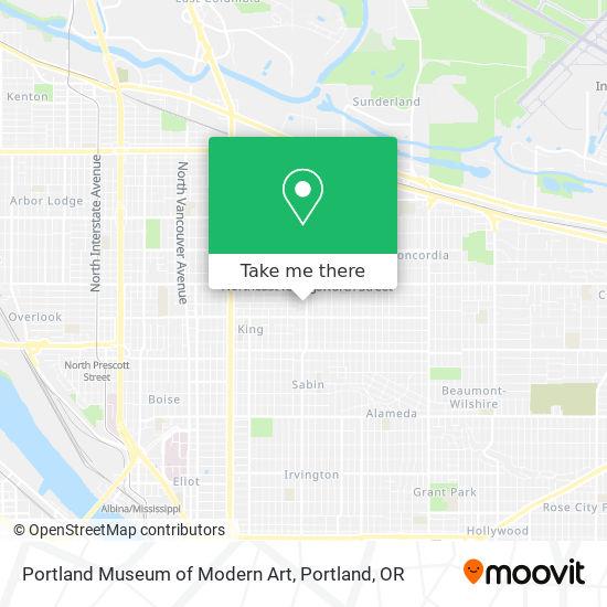 Mapa de Portland Museum of Modern Art