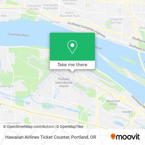 Hawaiian Airlines Ticket Counter plan