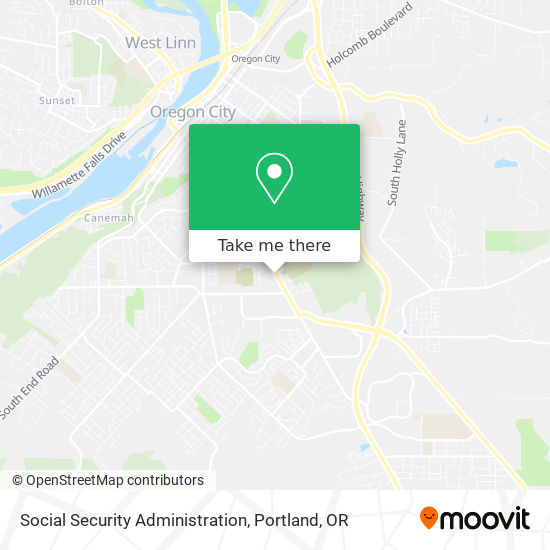 Social Security Administration map