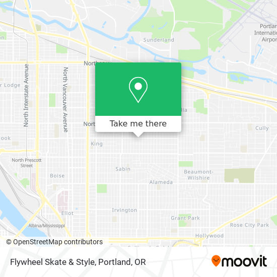 Mapa de Flywheel Skate & Style