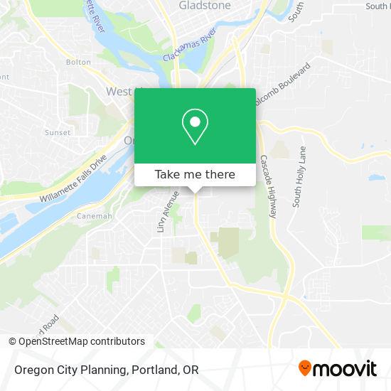 Oregon City Planning map