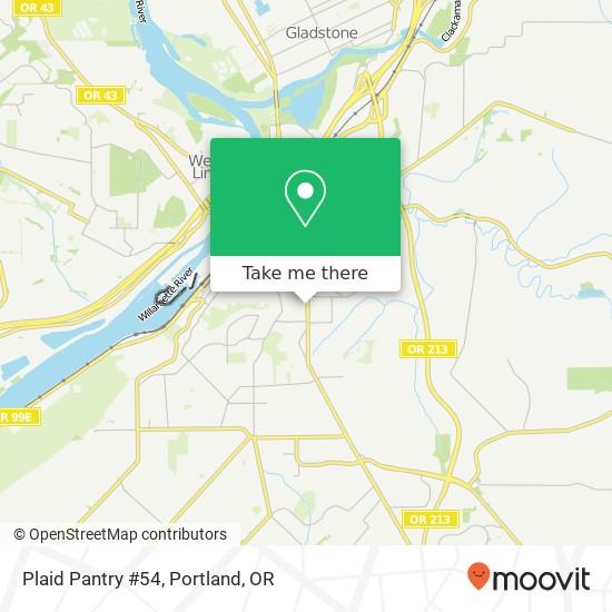 Plaid Pantry #54 map