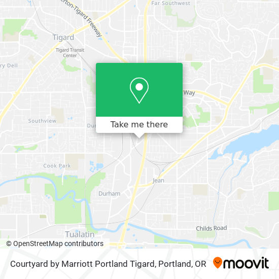 Courtyard by Marriott Portland Tigard mapa