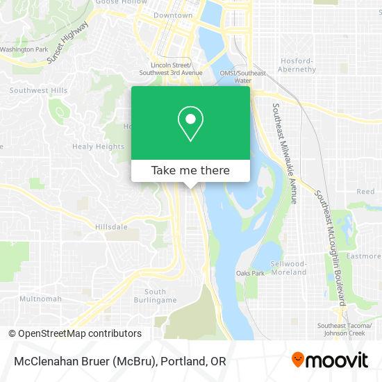 McClenahan Bruer (McBru) mapa