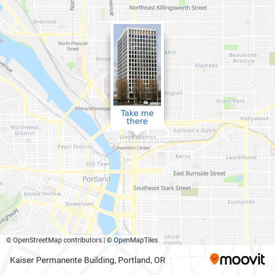 Mapa de Kaiser Permanente Building