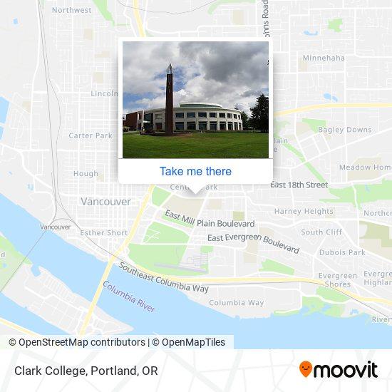 Mapa de Clark College