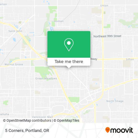 5 Corners map