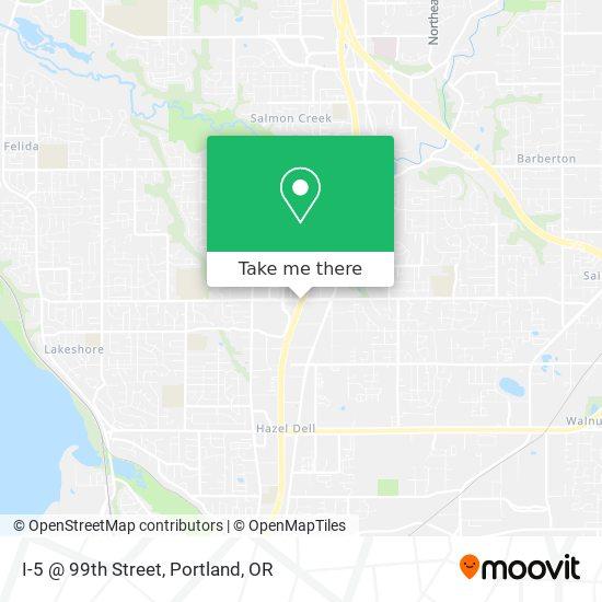 I-5 @ 99th Street mapa