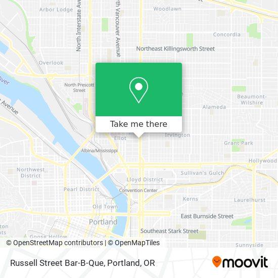 Mapa de Russell Street Bar-B-Que