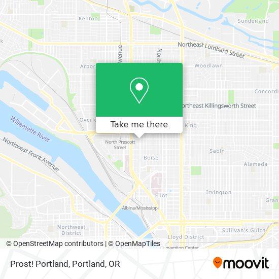 Mapa de Prost! Portland