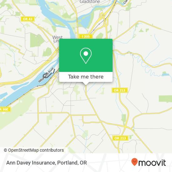 Ann Davey Insurance map