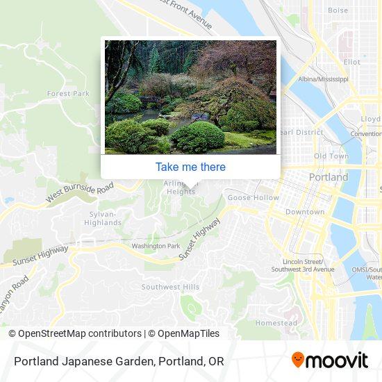 Portland Japanese Garden地图