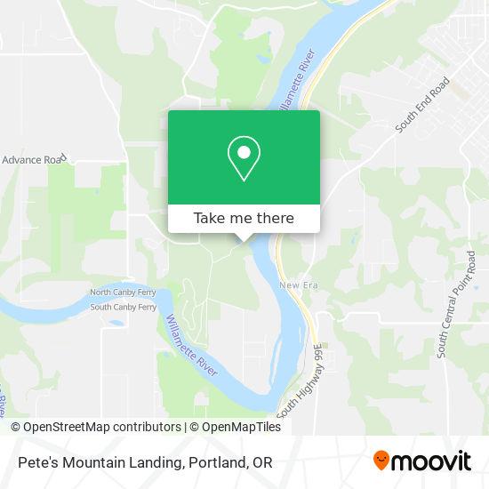 Pete's Mountain Landing map