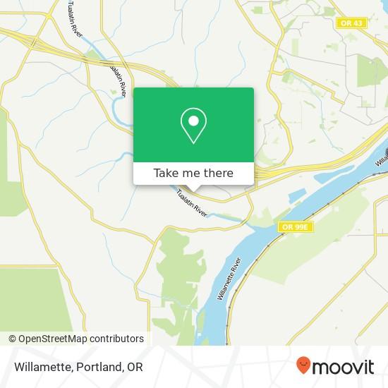 Willamette map