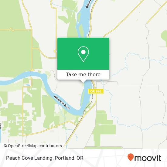 Peach Cove Landing map