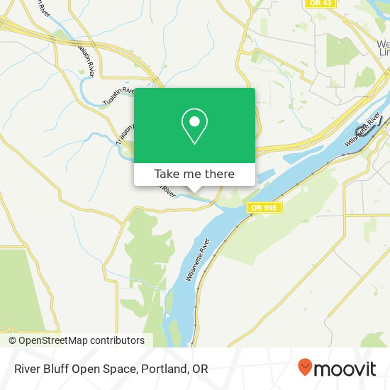 River Bluff Open Space map