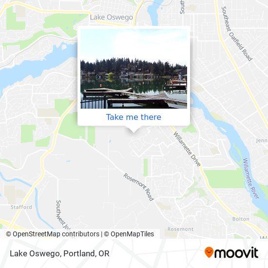 Lake Oswego map