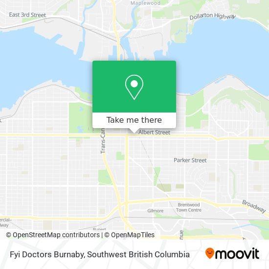 Fyi Doctors Burnaby map