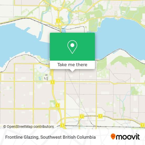 Frontline Glazing map