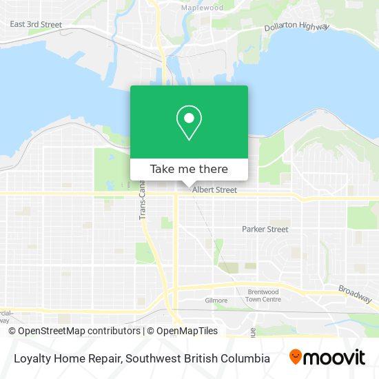 Loyalty Home Repair map