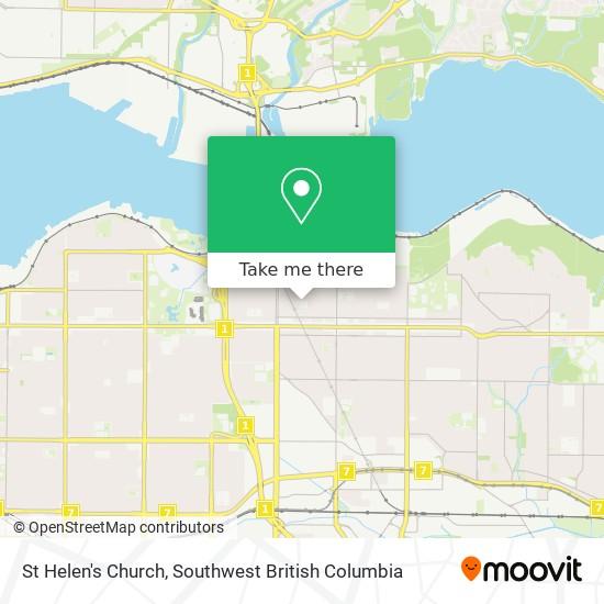 St Helen's Church map