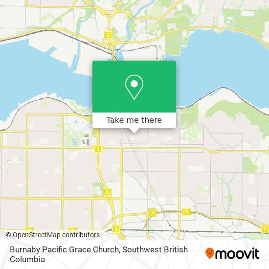 Burnaby Pacific Grace Church map