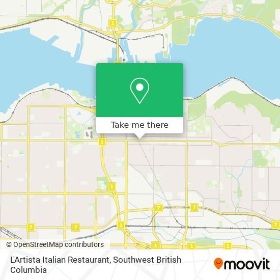 L'Artista Italian Restaurant map