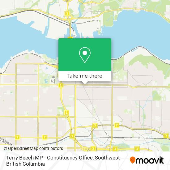Terry Beech MP - Constituency Office map
