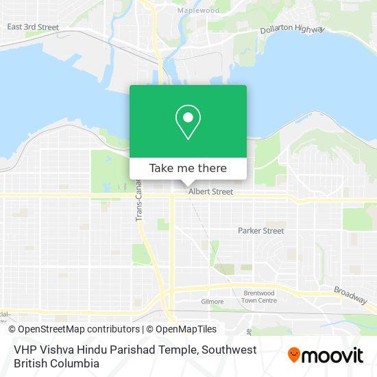 VHP Vishva Hindu Parishad Temple map