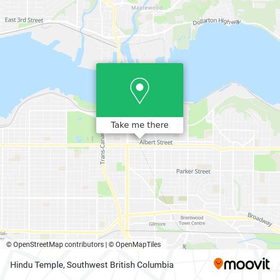 Hindu Temple map