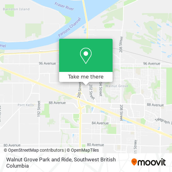 Walnut Grove Park and Ride map