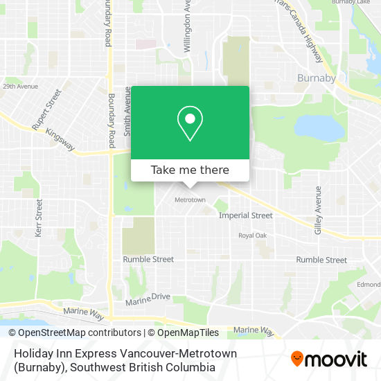 Holiday Inn Express Vancouver-Metrotown (Burnaby) map