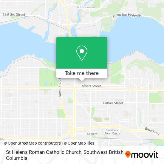 St Helen's Roman Catholic Church mapa
