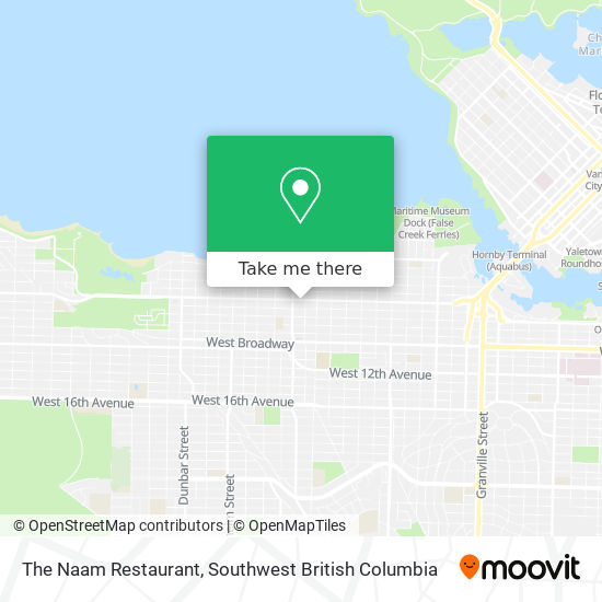The Naam Restaurant map