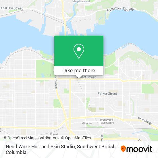 Head Waze Hair and Skin Studio map
