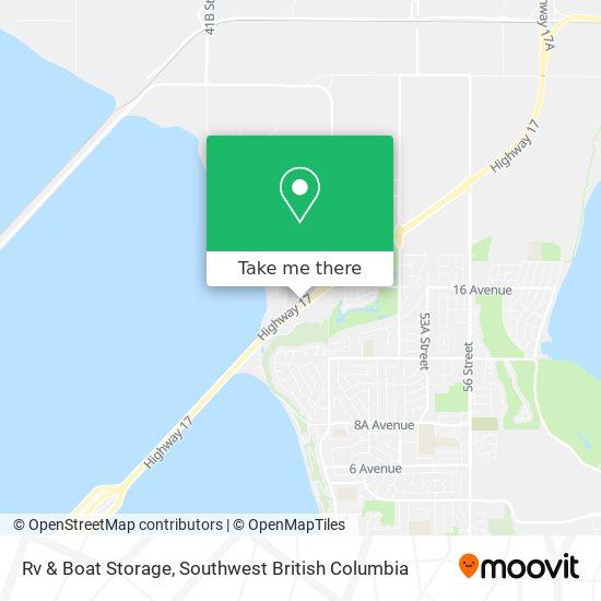 Tsawwassen Ferry Park & Go map